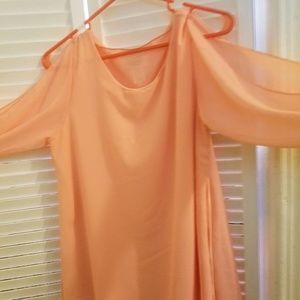 Peach sheer blouse